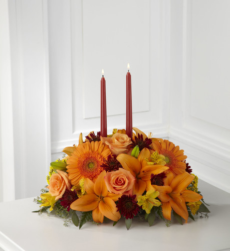 Bright Autumn Centerpiece Long Island Flower Delivery