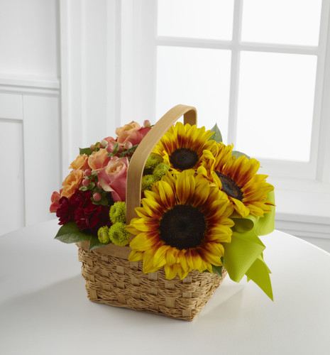 Bright Day Basket Flowers Long Island