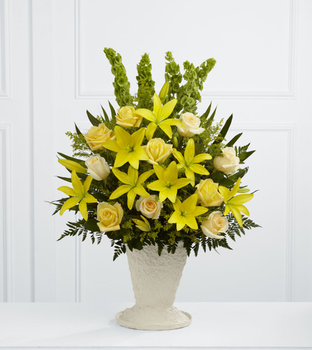 Golden Memories Arrangement Long Island Florist