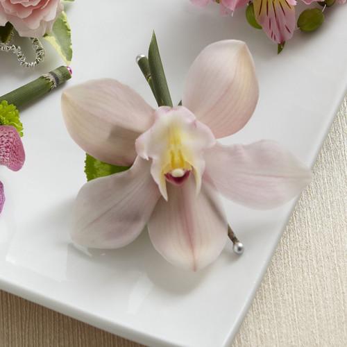 Pink Cymbidium Boutonniere Long Island Florist