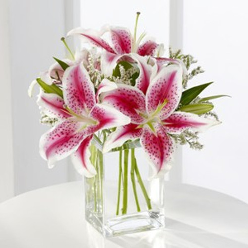 Pink Lily Bouquet Flowers Long Island