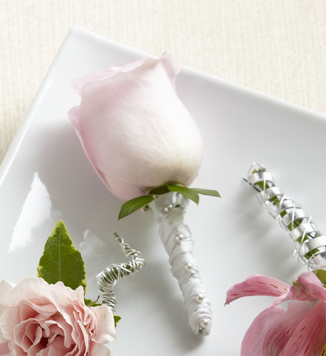 Pink Rose Boutonniere Flowers Long Island