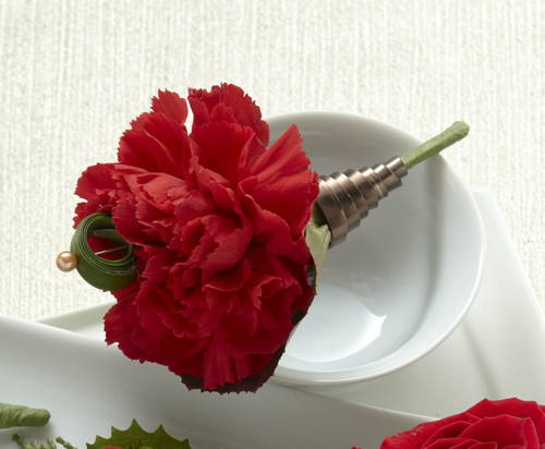 TheRed Carnation Boutonniere