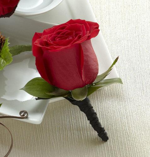 Red Rose Boutonniere Long Island Florist