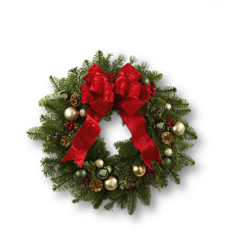 Winter Wonders Wreath Long Island Flower Delivery