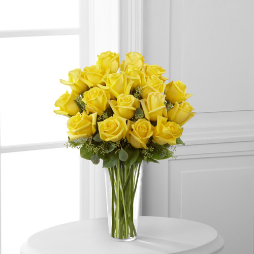 18 Yellow Rose Bouquet Florist Long Island NY