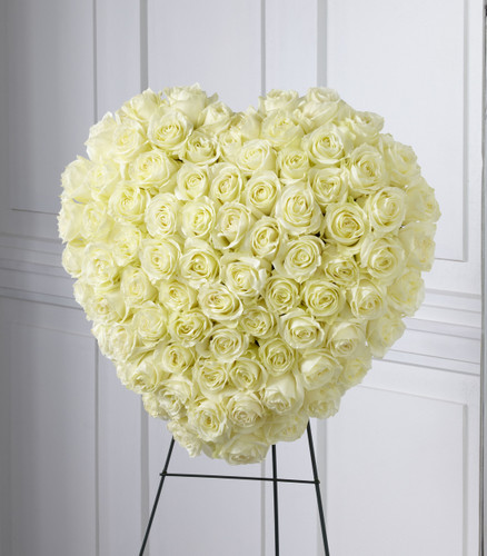 The Elegant Remembrance Standing Heart Flowers Long Island