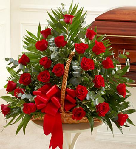Sincerest Sympathies Fireside Basket - Red