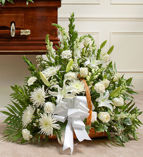 Thoughts and Prayers Fireside Basket - White