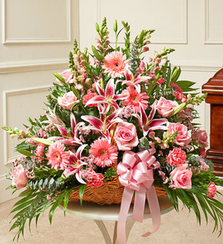 Thoughts and Prayers Fireside Basket - Pink