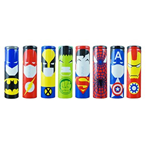 18650 Comic Battery Wraps