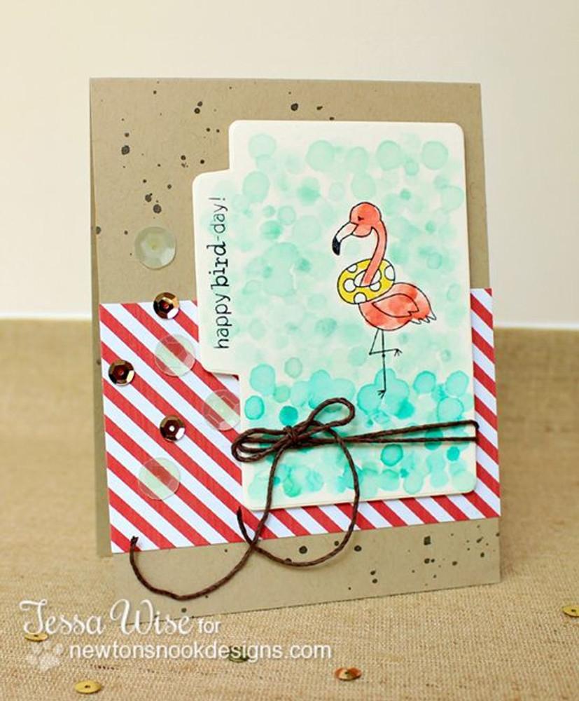 Flamingo Birthday Card | Flirty Flamingos stamp set by Newton's Nook Designs