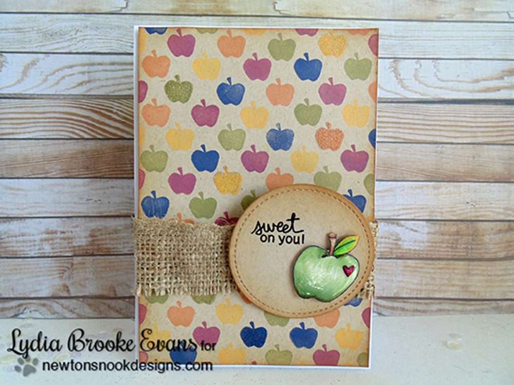 Apple Card | Apple Delights | 3x4 photopolymer Stamp Set | Newton's Nook Designs
