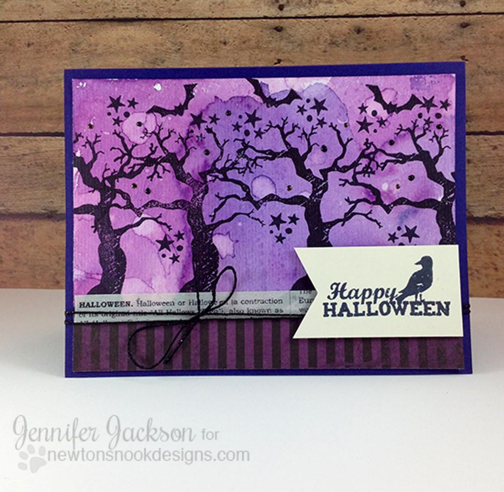 Spooky Tree Card | Spooky Street Stamp Set ©2014 Newton's Nook Designs