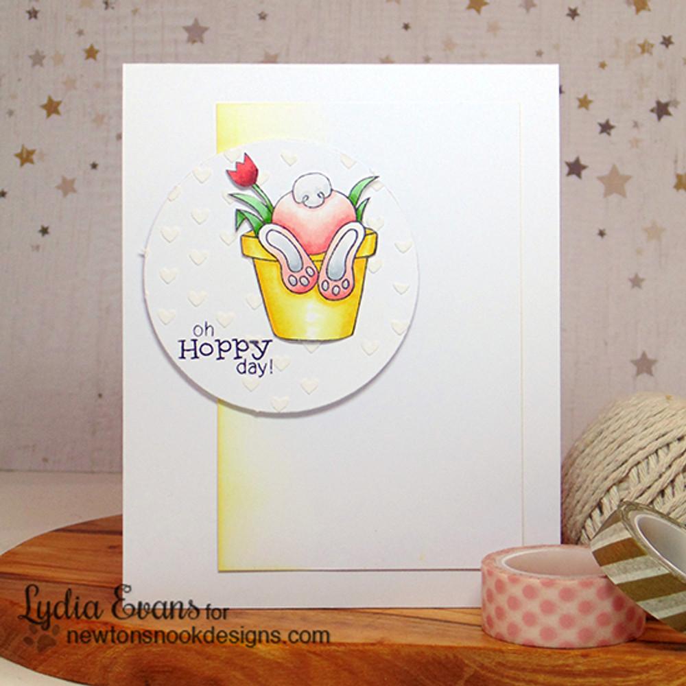 "Bunny ""Hoppy"" Day Card | Bunny Hop | 3x4 photopolymer Stamp Set | Newton's Nook Designs"