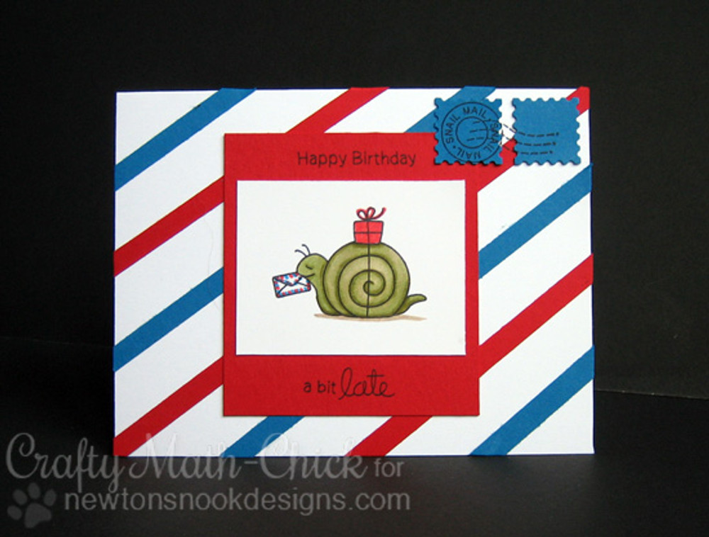 Belated Birthday Snail Card   In Slow Motion   4x6 Photopolymer Stamp Set   Newton's Nook Designs