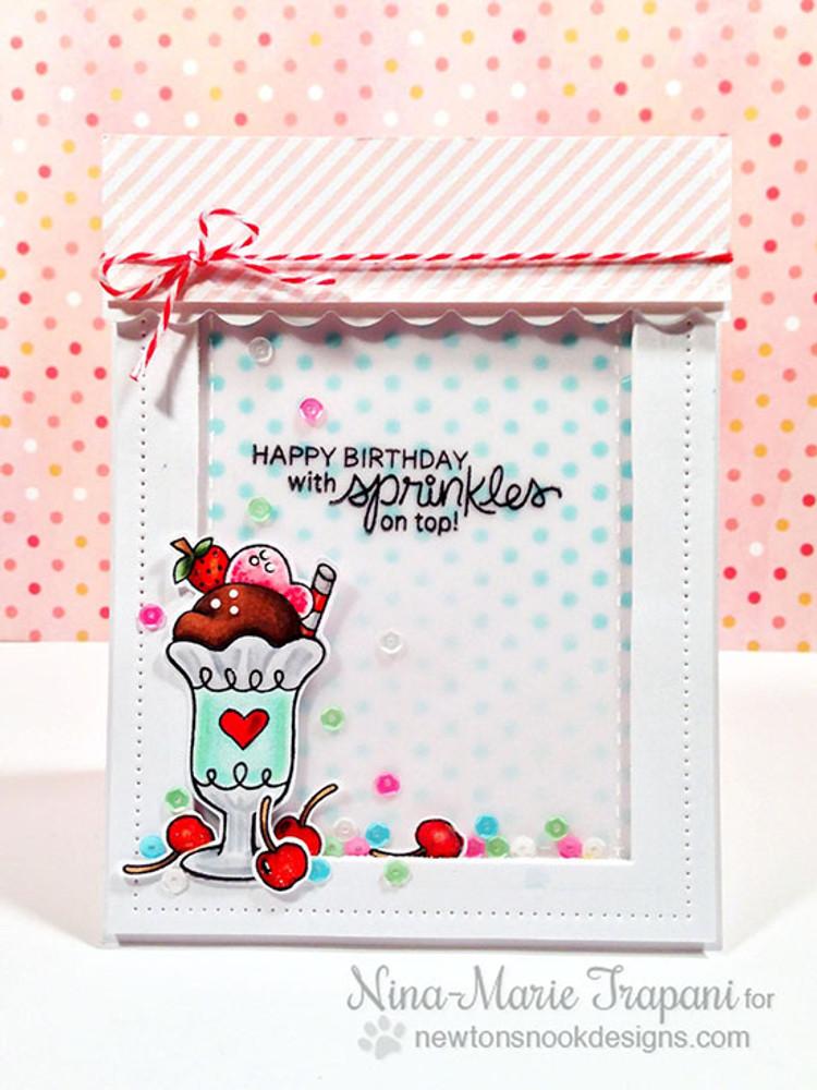 Ice Cream Birthday Card | Summer Scoops Stamp Set by Newton's Nook Designs