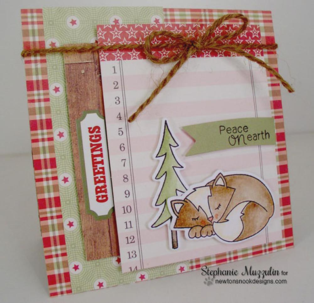 Fox Hollow   4x6 Photopolymer Stamp Set   Newton's Nook Designs