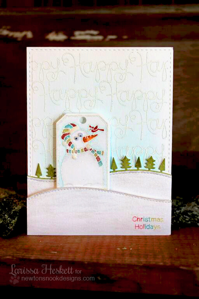 Happy Winter Snowman Card | Simply Seasonal | 4x6 Photopolymer Stamp Set | Newton's Nook Designs