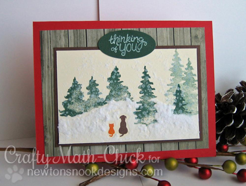 Whispering Pines | 4x6 Photopolymer Stamp Set | Newton's Nook Designs