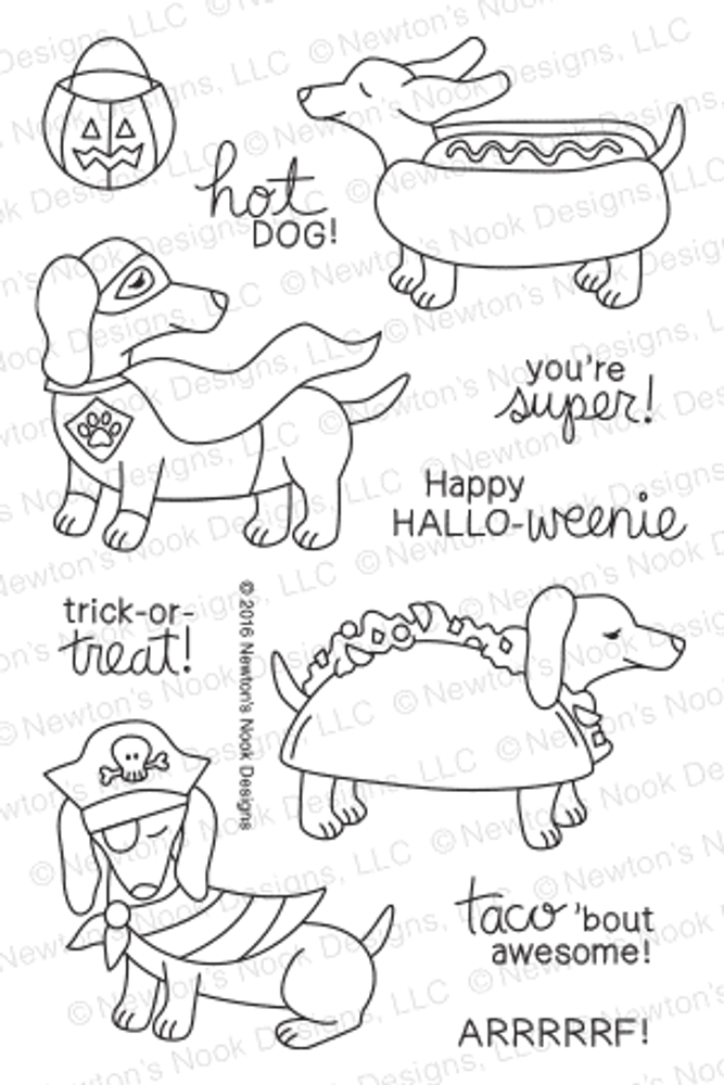 Dress Up Doxies Stamp Set ©2016 Newton's Nook Designs