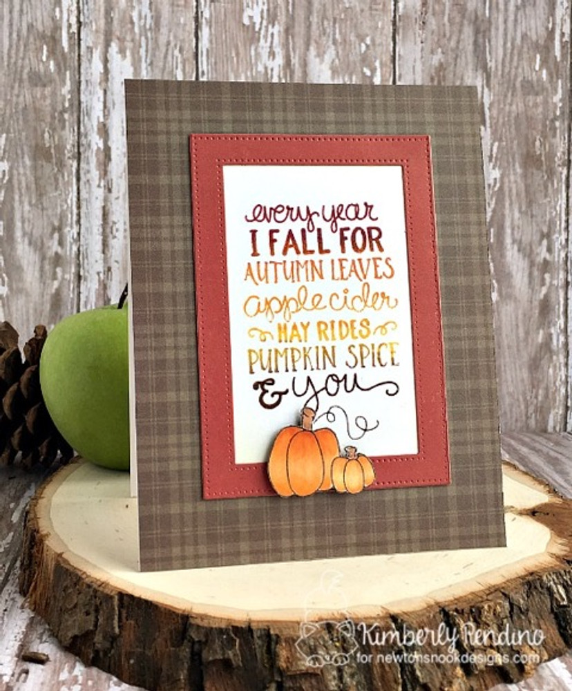 Fall-ing for You Stamp Set ©2016 Newton's Nook Designs