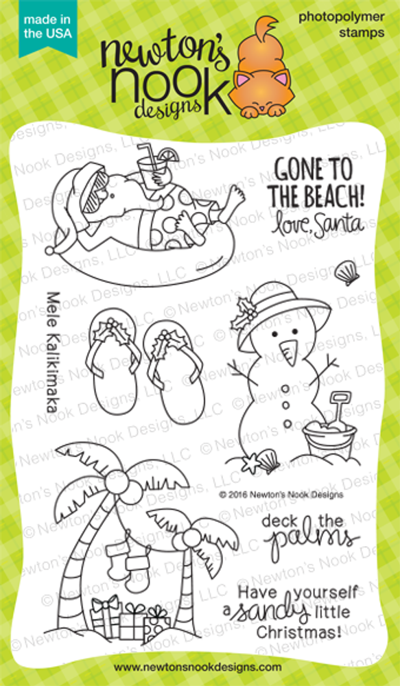 Sun Soaked Christmas Stamp Set by Newton's Nook Designs