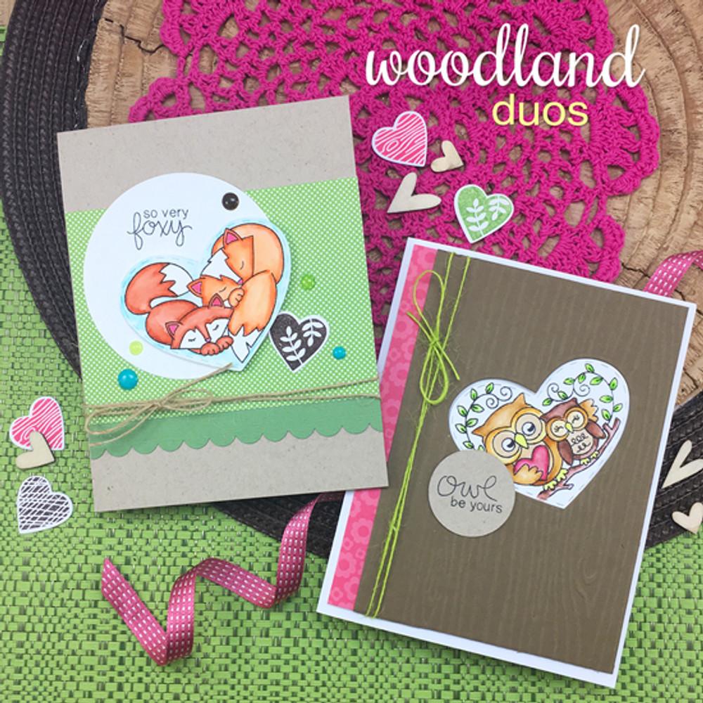 Woodland Duos Stamp Set by Newton's Nook Designs