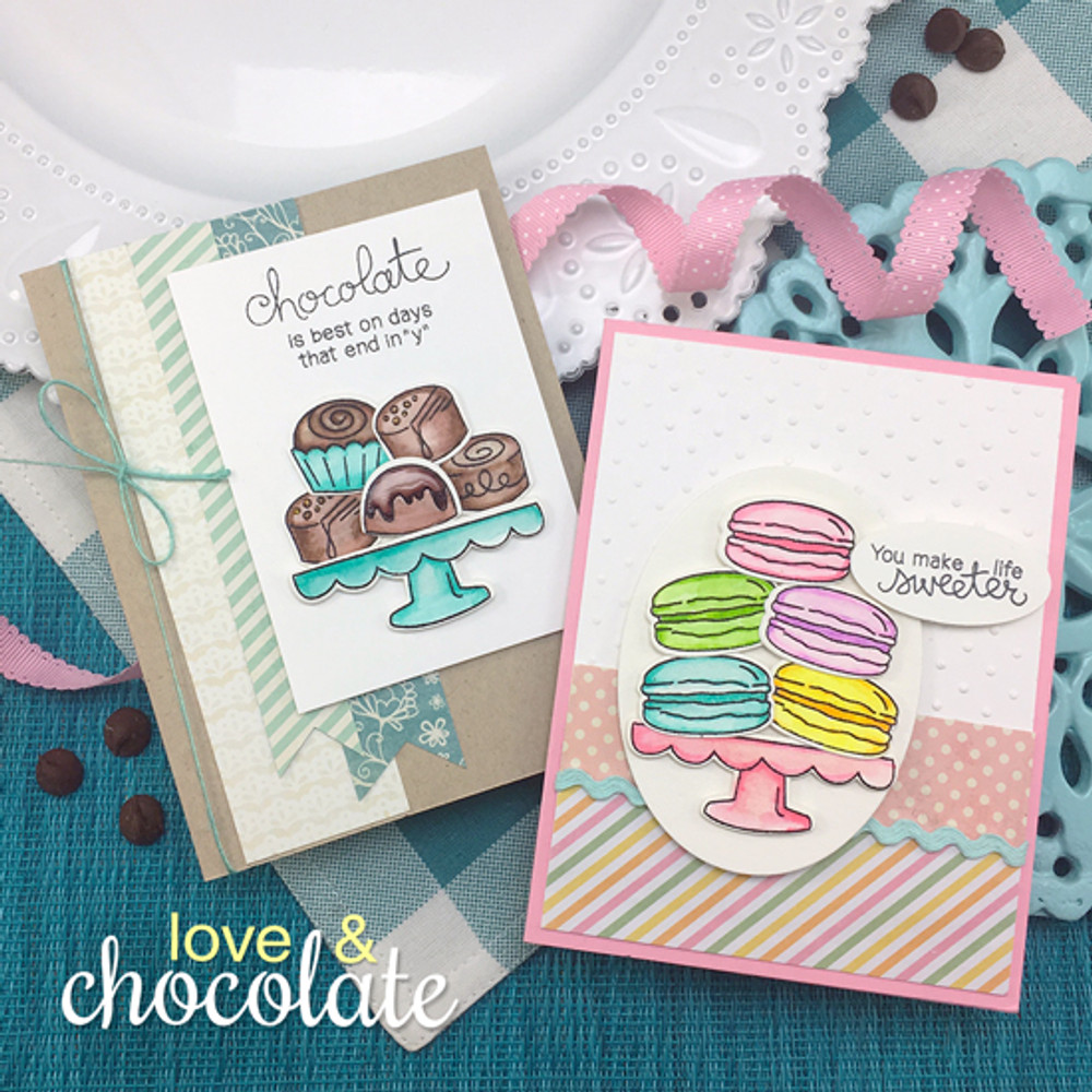 Love & Chocolate Stamp Set by Newton's Nook Designs