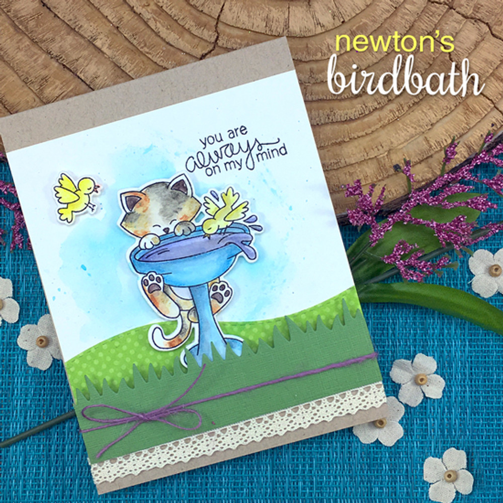 Newton's Birdbath Stamp Set by Newton's Nook Designs