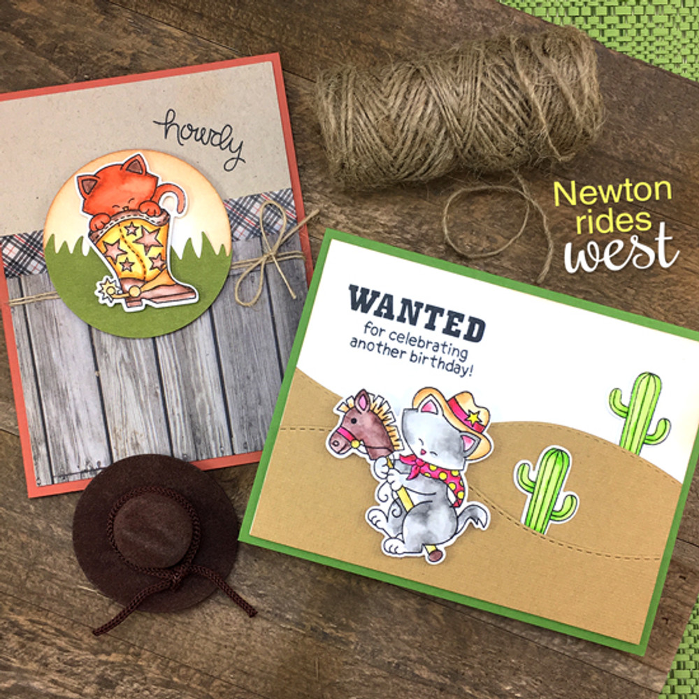 Newton Rides West Stamp Set by Newton's Nook Designs