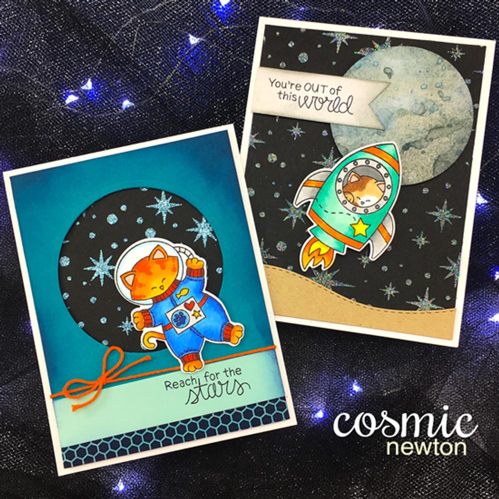 Cosmic Newton Stamp Set by Newton's Nook Designs