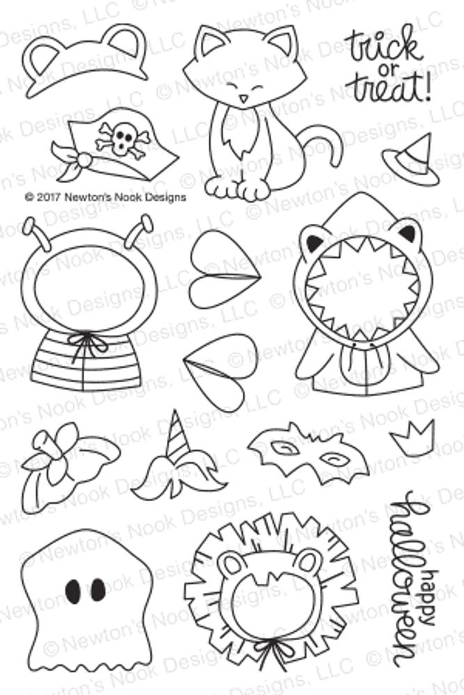 Newton's Costume Party Stamp Set ©2017 Newton's Nook Designs