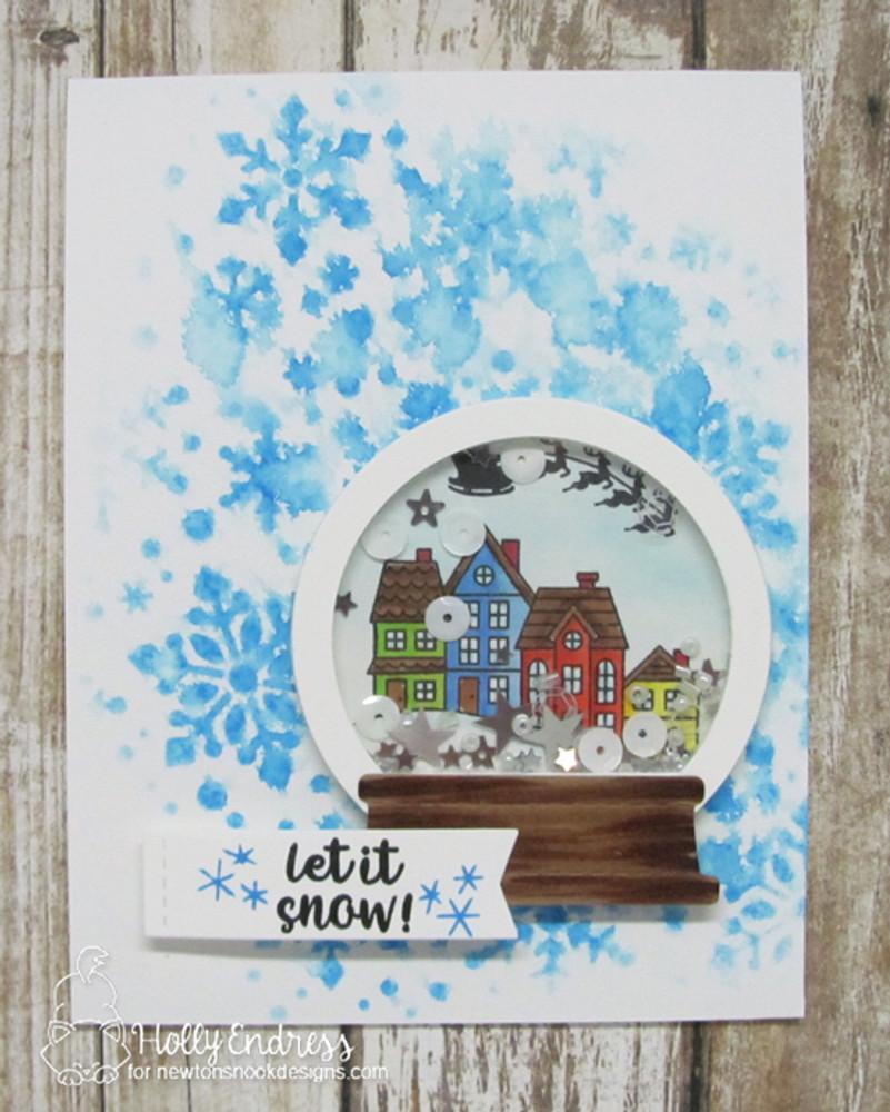 Snow Globe Shaker Die Set ©2017 Newton's Nook Designs