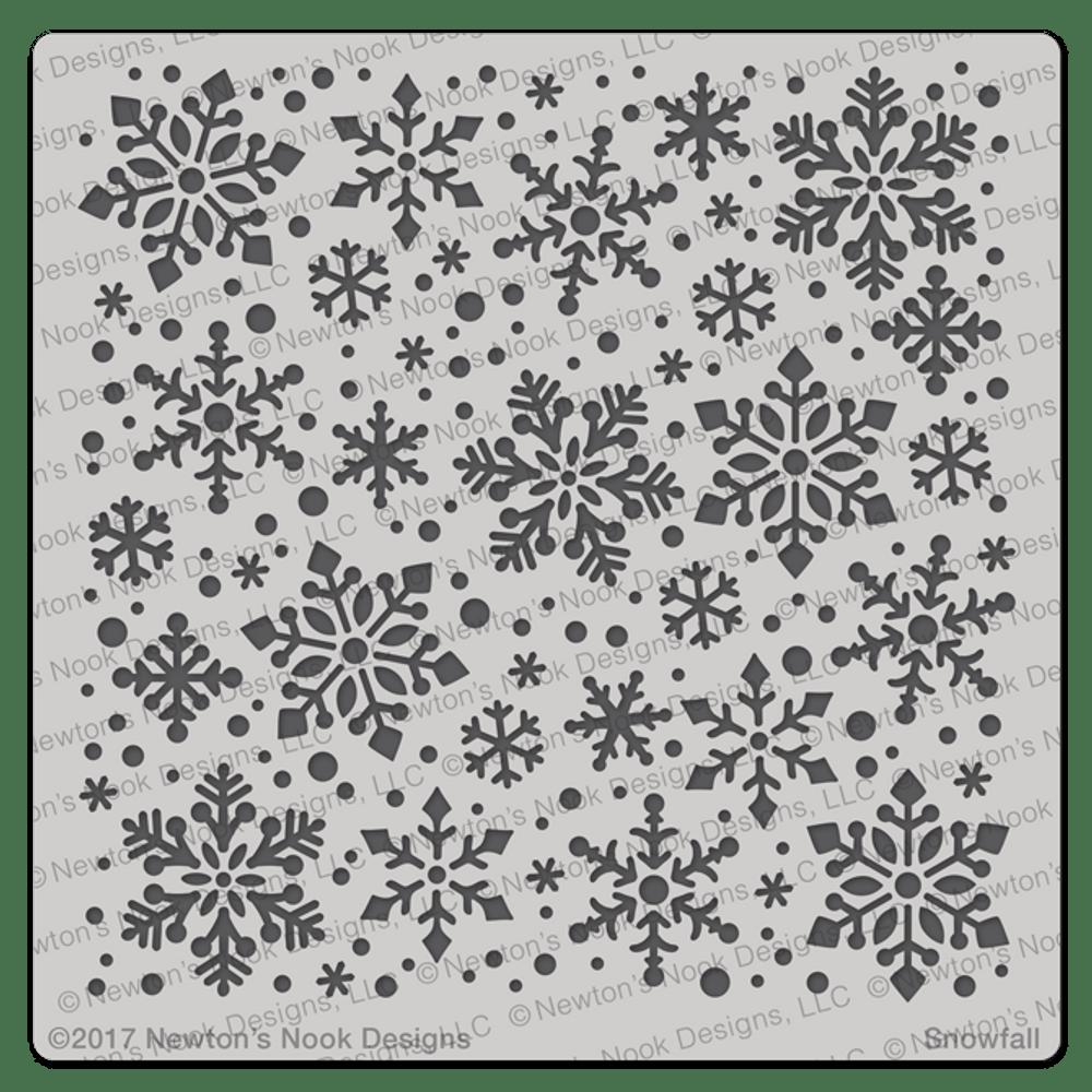 Snowfall Stencil ©2017 Newton's Nook Designs