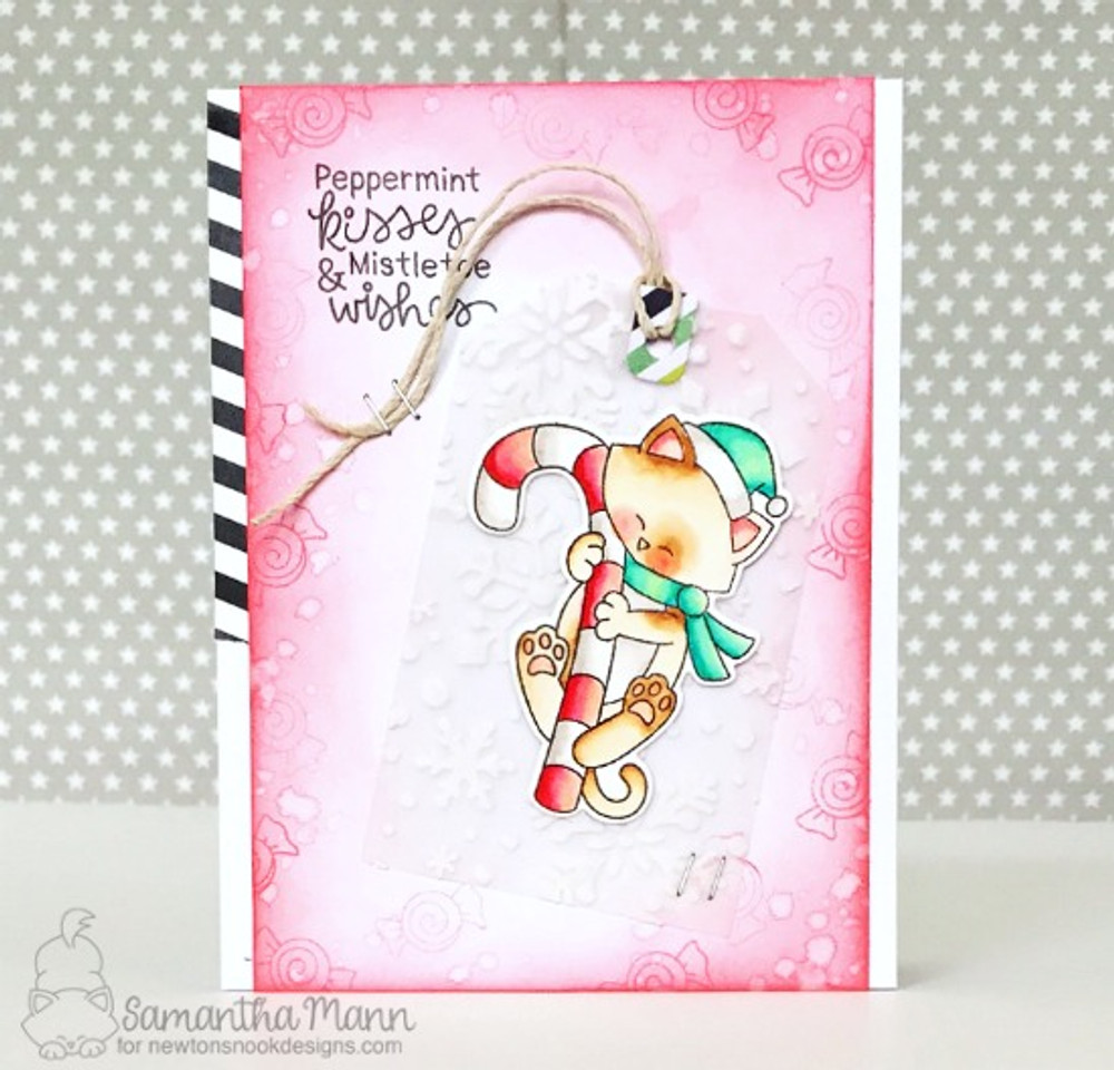 Newton's Candy Cane Stamp Set ©2017 Newton's Nook Designs