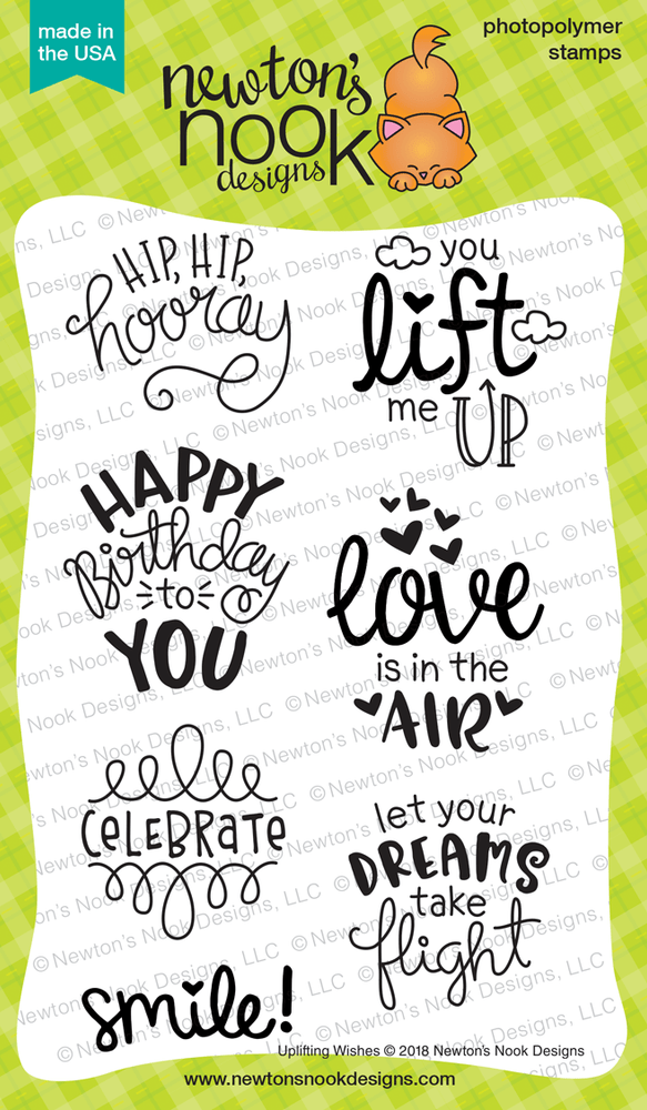 Uplifting Wishes Stamp Set ©2018 Newton's Nook Designs