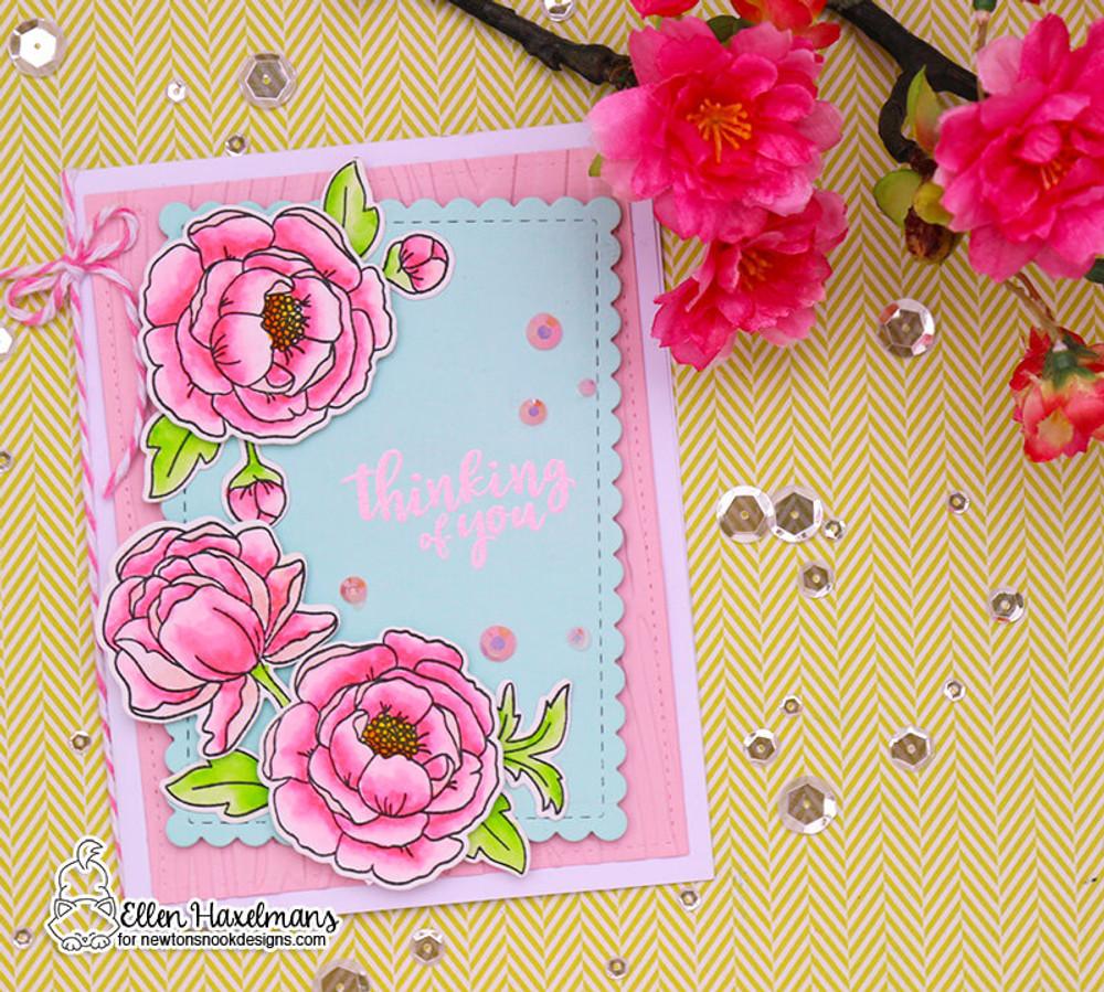 Peony Blooms Stamp Set ©2018 Newton's Nook Designs