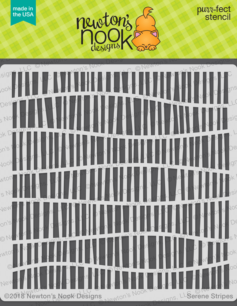 Serene Stripes Stencil ©2018 Newton's Nook Designs