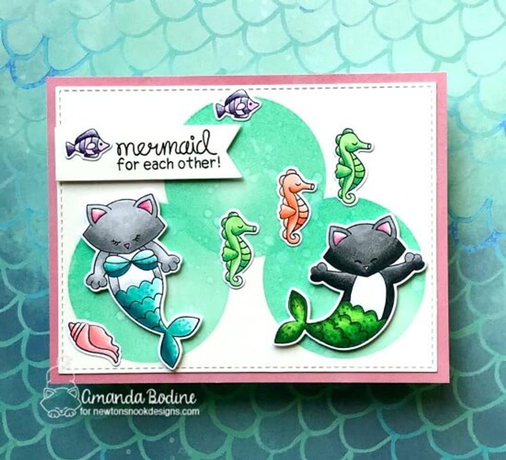 Purr-maid Newton Stamp Set ©2018 Newton's Nook Designs