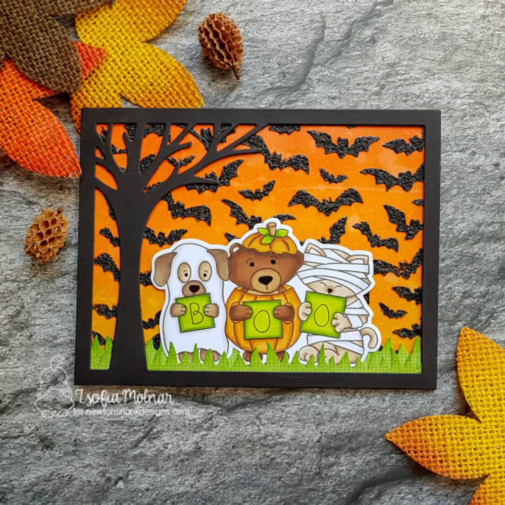 Halloween Trio Stamp Set ©2018 Newton's Nook Designs