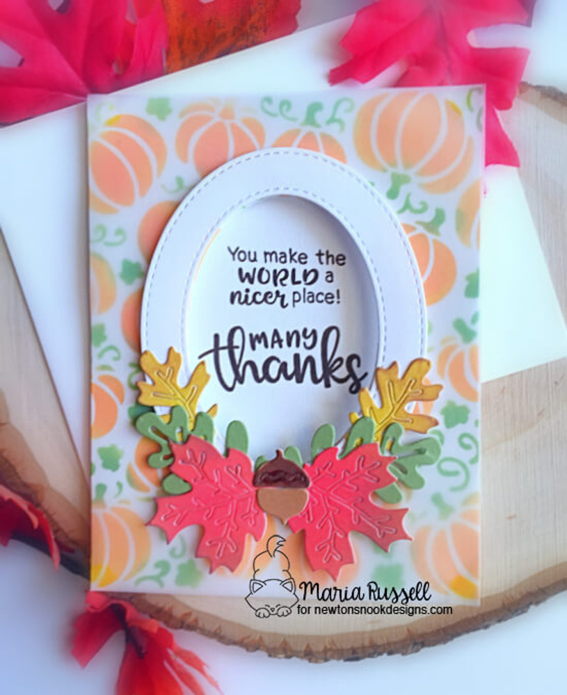Thankful Thoughts Stamp Set ©2018 Newton's Nook Designs