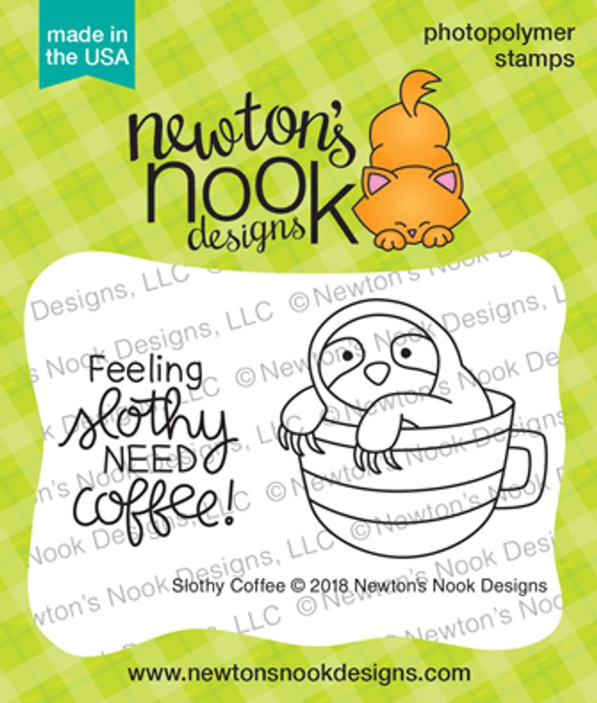 Slothy Coffee Stamp Set ©2018 Newton's Nook Designs