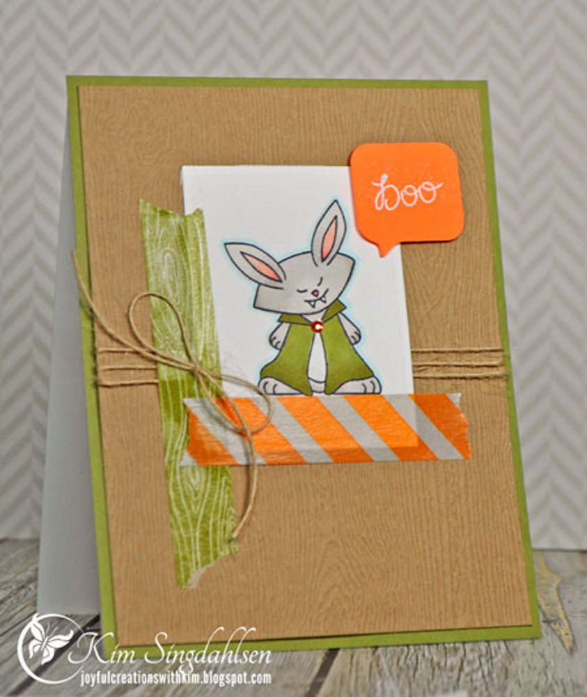 Vampire Bunny Halloween Card |  Boo Crew Stamp Set by Newton's Nook Designs