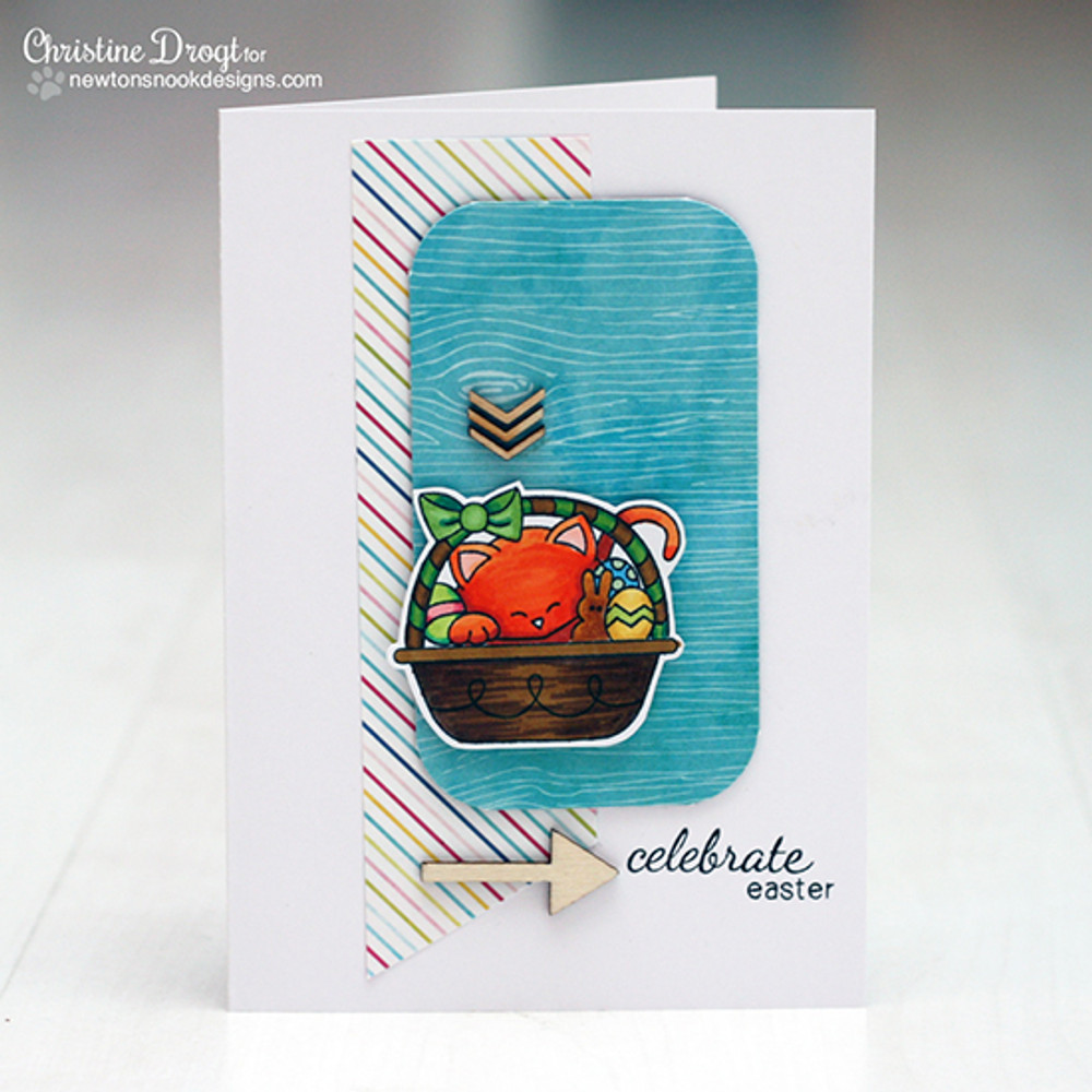Easter Card | Basket of Wishes stamp set by Newton's Nook Designs