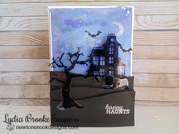 Haunted House and Card | Spooky Street Stamp Set ©2014 Newton's Nook Designs