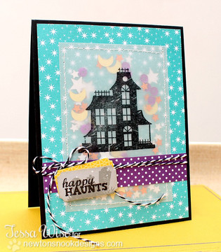 Haunted House Card | Spooky Street Stamp Set ©2014 Newton's Nook Designs