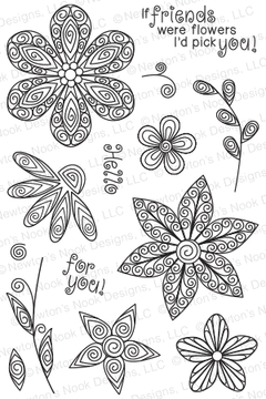 Beautiful Blossoms | 4x6 Photopolymer Stamp Set | Newton's Nook Designs
