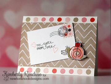 Snail Friendship Card   In Slow Motion   4x6 Photopolymer Stamp Set   Newton's Nook Designs