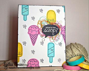 Ice Cream Friendship Card | Summer Scoops Stamp Set by Newton's Nook Designs